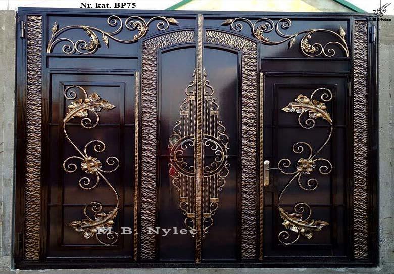 brama pełna - zasłaniająca - bp75